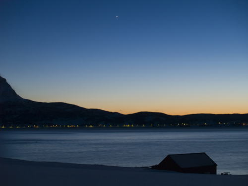 Last light on a winter day with Venus showing up