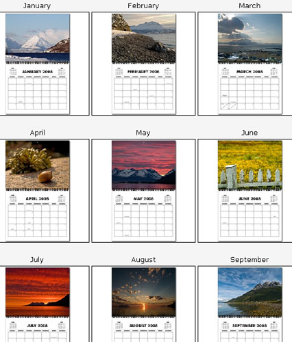 Photos from Northern Norway 2008 calendar preview