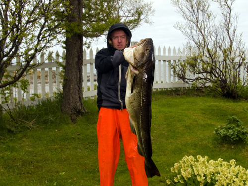 Picture of me holding a 24kg (53lb) cod