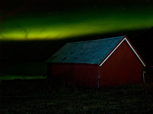 Northern Lights (Aurora Borealis) in Northern Norway on New Years Eve