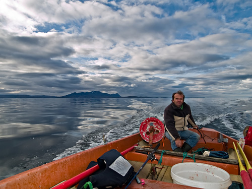 Photo from a day out fishing on the sea in northern Norway
