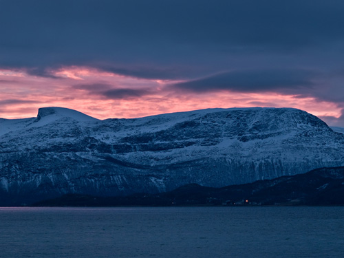 Picture from a polar day in Norther Norway