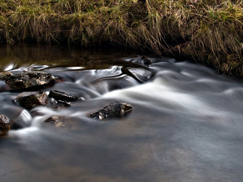 10 second long exposure picture of a river