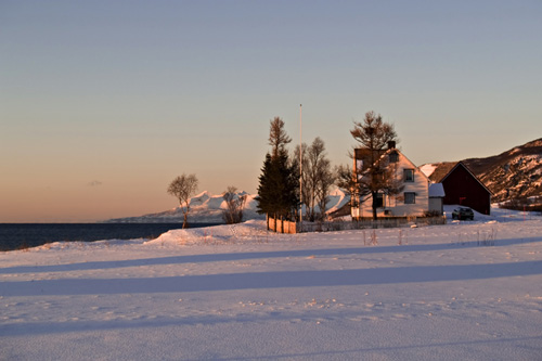 Picture of rural winter scenery in northern Norway