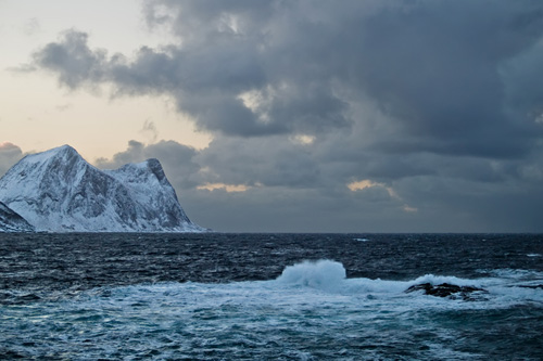 Picture of bad weather on the west coast of Senja in Northern Norway