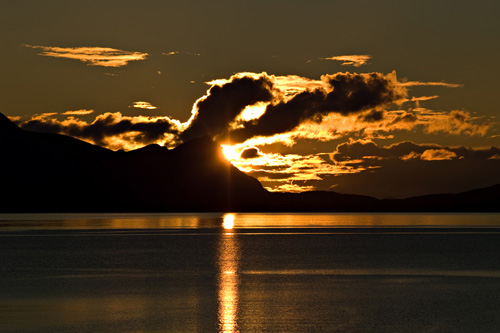 Sunset picture from northern Norway