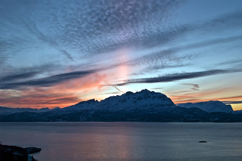 8 days till the sun comes back in Northern Norway - Polar night sunset picture